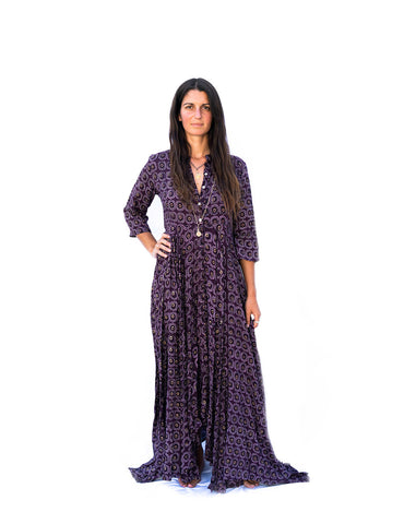 Kamala Devi Dress -Purple