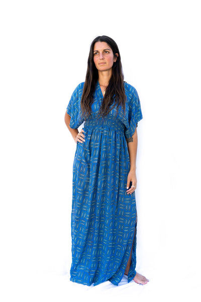 Tara Dress- Blue - The Sattva Collection