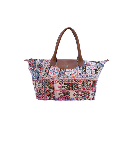 Handstitched Shakti Tote- MultiColors - The Sattva Collection