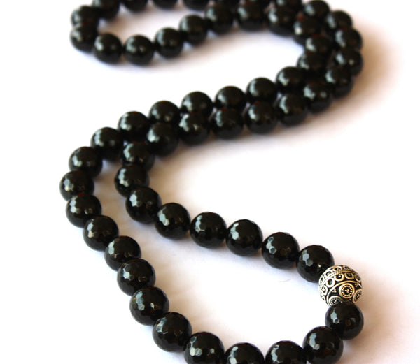 Devi Guru Bead Necklace- Black Onyx