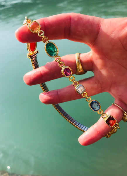 9 Planet Navratna Armlet - The Sattva Collection