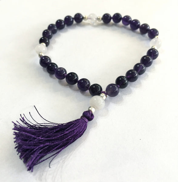 Amethyst & Pearl Quartermala - The Sattva Collection