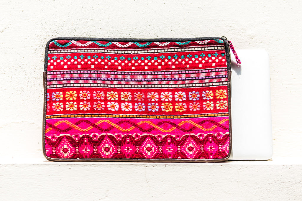 Shakti Laptop Sleeve- Pink