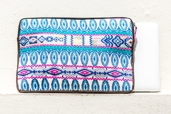 Shakti Laptop Sleeve- Blue