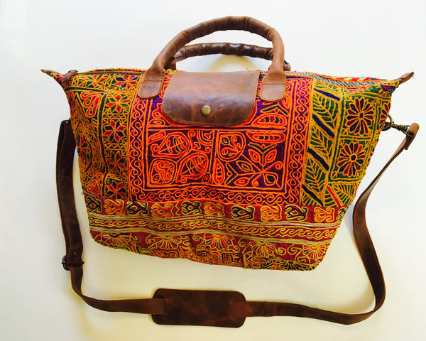 Handstiched Shakti Tote - The Sattva Collection