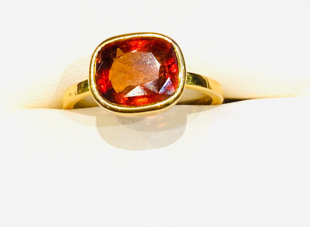 Astrological Gemstone Ring- Rahu- Hessonite