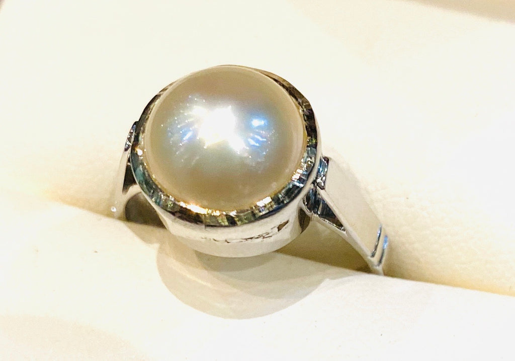 Astrological Gemstone Ring- Moon- Pearl