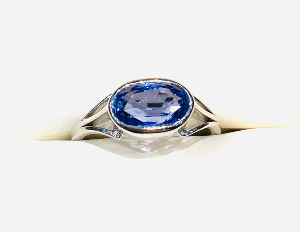 Astrological Gemstone Ring- Saturn-Blue Sapphire