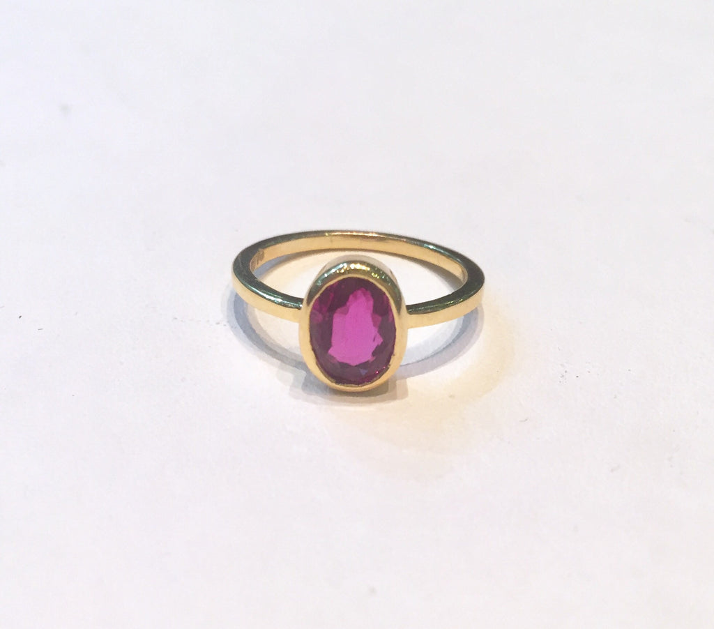 Astrological Gemstone Ring- Ruby