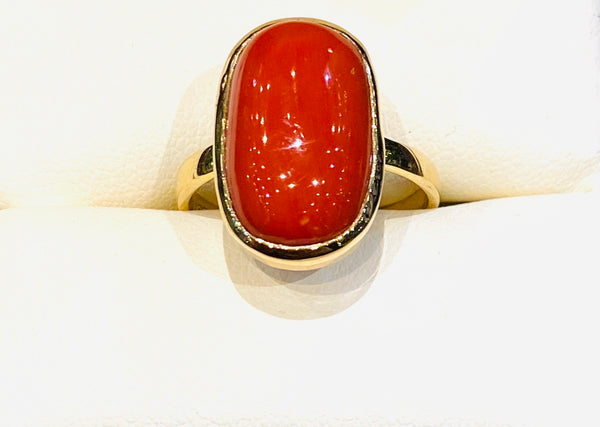 Astrological Gemstone Ring- Mars- Red Coral