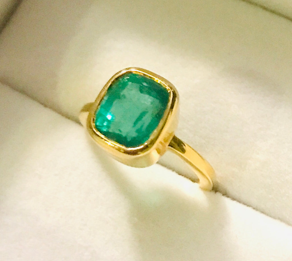 Astrological Gemstone Ring- Mercury-Emerald