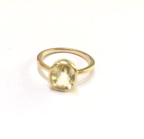 Astrological Gemstone Ring-Yellow Saphire