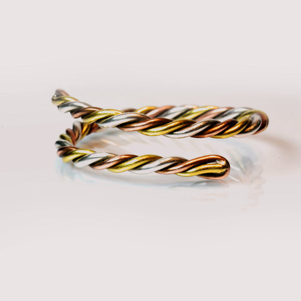 3 Metal Kriya Bangle - The Sattva Collection