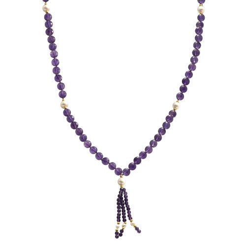 Amethyst and Pearl Mala