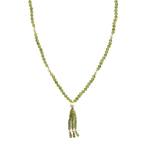 Peridot and Pearl Mala