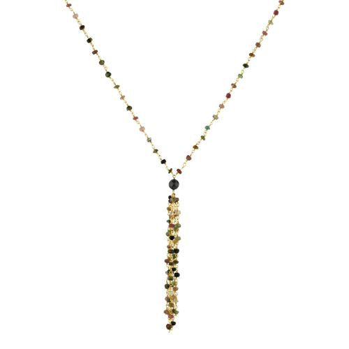 Tourmaline Tassle Necklace