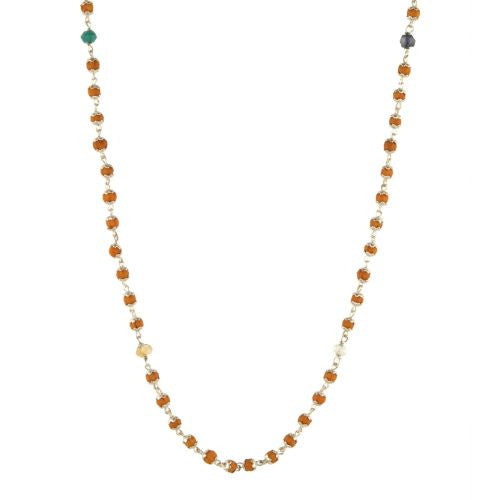 Nine Planets Rudrani with Silver Caps Necklace - The Sattva Collection