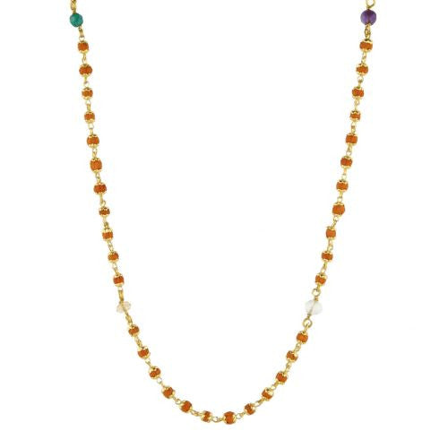 Nine Planets Rudrani Gold Plate Necklace - The Sattva Collection