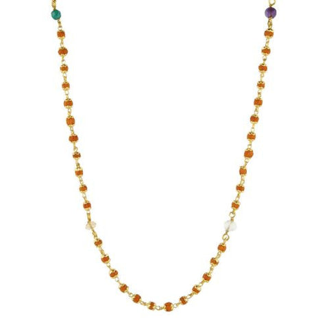 Nine Planets Rudrani Gold Plate Necklace