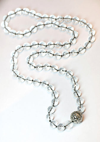 Devi Guru Bead Necklace- Crystal Quartz