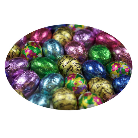 Solid Chocolate Miniature Foiled Eggs
