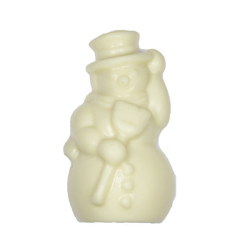 Solid White Chocolate Snowman