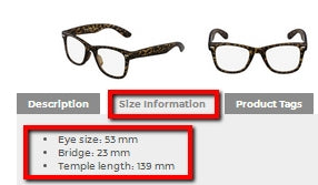 Find Frame Size Measurements