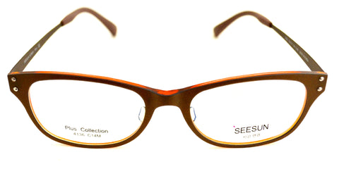 Seesun 4136 Brown Orange Eyeglasses