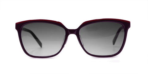 TC Charton | Nadine Women's Burgundy/Purple Asian Fit Polarized Sunglasses