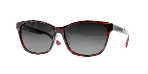 TC Charton | Sienna Burgundy Marble Asian Fit Polarized Sunglasses