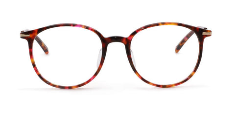 TC Charton | Willow Pink and Brown Tortoise Asian Fit Eyeglasses