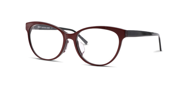 TC Fit | Montreal Maroon and Black Asian Fit Eyeglasses