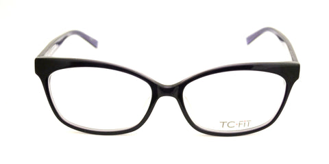 TC Fit | Paris Black Purple Eyeglasses - Eyewear Envy - 1
