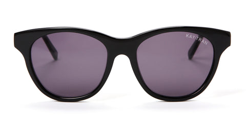 Kay Tran | Aiden Polished Black Sunglasses