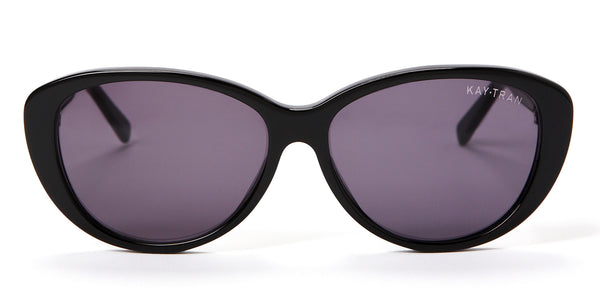Kay Tran | Allison Polished Black Sunglasses