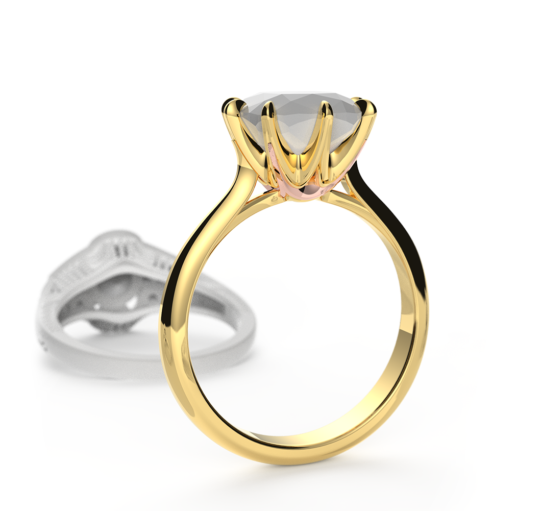 JadoCrown Yellow Engagement Ring | CADCAMNYC