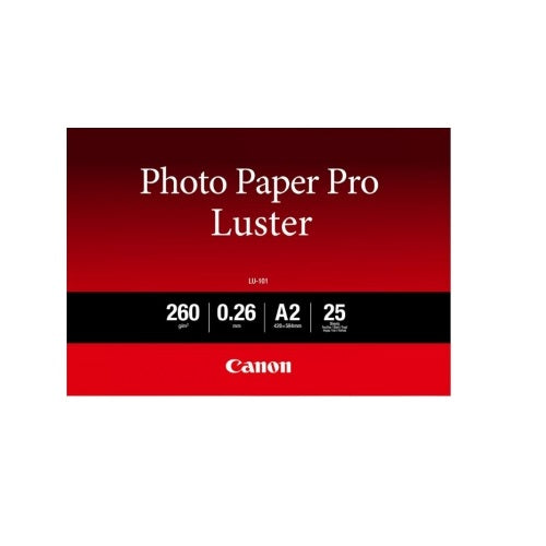 Canon LU-101A2 A2 Photo Paper Pro Luster - 260gsm - 25 Sheets