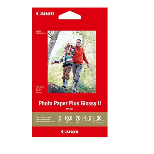 Canon 4X6 Glossy Photo Paper Plus II 260GSM CPP3014X6-50 (50pk)