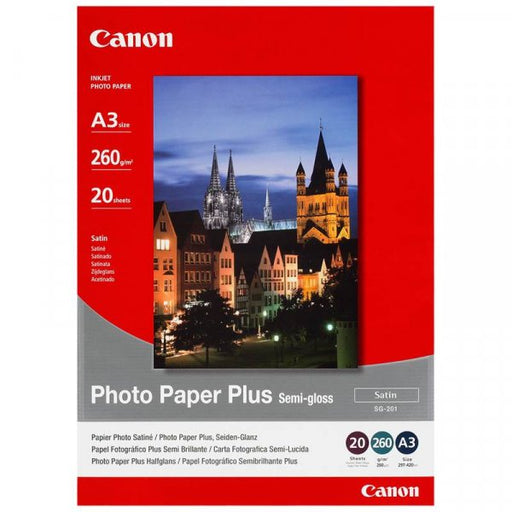 Canon A3 Photo Paper Plus Semi Gloss SG201A3 (20PK)