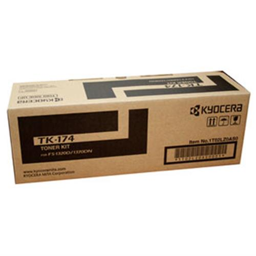 Kyocera FS-1320D/1370DN Black Toner Cartridges, Genuine OEM, 7.2k Yield, TK-174