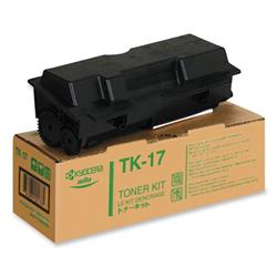 Kyocera FS-1000 / 1010 Black High Yield Toner Cartridge, Genuine OEM, -6k Yield,TK-17
