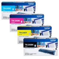 Brother TN-240 Colour 4 Pack Bk,C,M,Y Genuine Toner Cartridges - refer to singles for yields