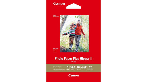 Canon 4X6 Glossy Photo Paper Plus II 265GSM CPP3014X6-20 (20PK)