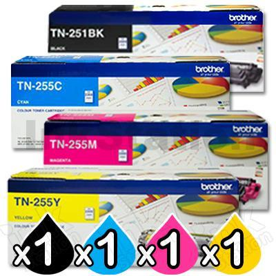 Brother TN-25x Colour Value 4 Pack - TN251B x 1 & TN255C/M/Y x 1