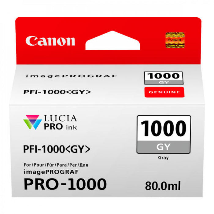 Genuine Canon PFI-1000 Grey Ink Tank 80ml PFI1000GY