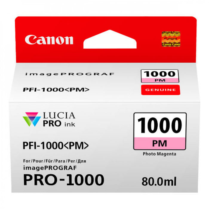 Genuine Canon PFI-1000 Photo Magenta Ink Tank 80ml PFI1000PM
