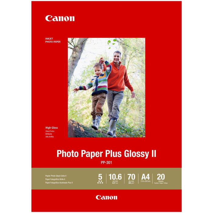 Canon A4 Glossy Photo Paper Plus II 265GSM CPP301A4 (20PK)