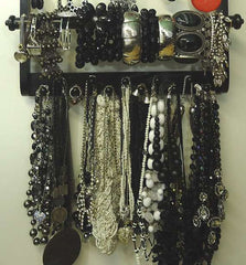 Deluxe Jewelry Holder Organizer Ebony Black Oak - Jewelry Holders For You