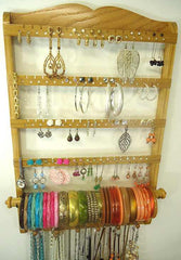 Single Bangle Jewelry Holder Organizer Honey Oak