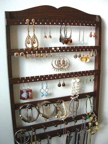 Jewelry Holder Combo Organizer Cocoa Brown Oak
